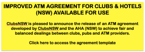ATM AGREEMENT AVALIABLE FOR PUBS, CLUBS & HOTELS