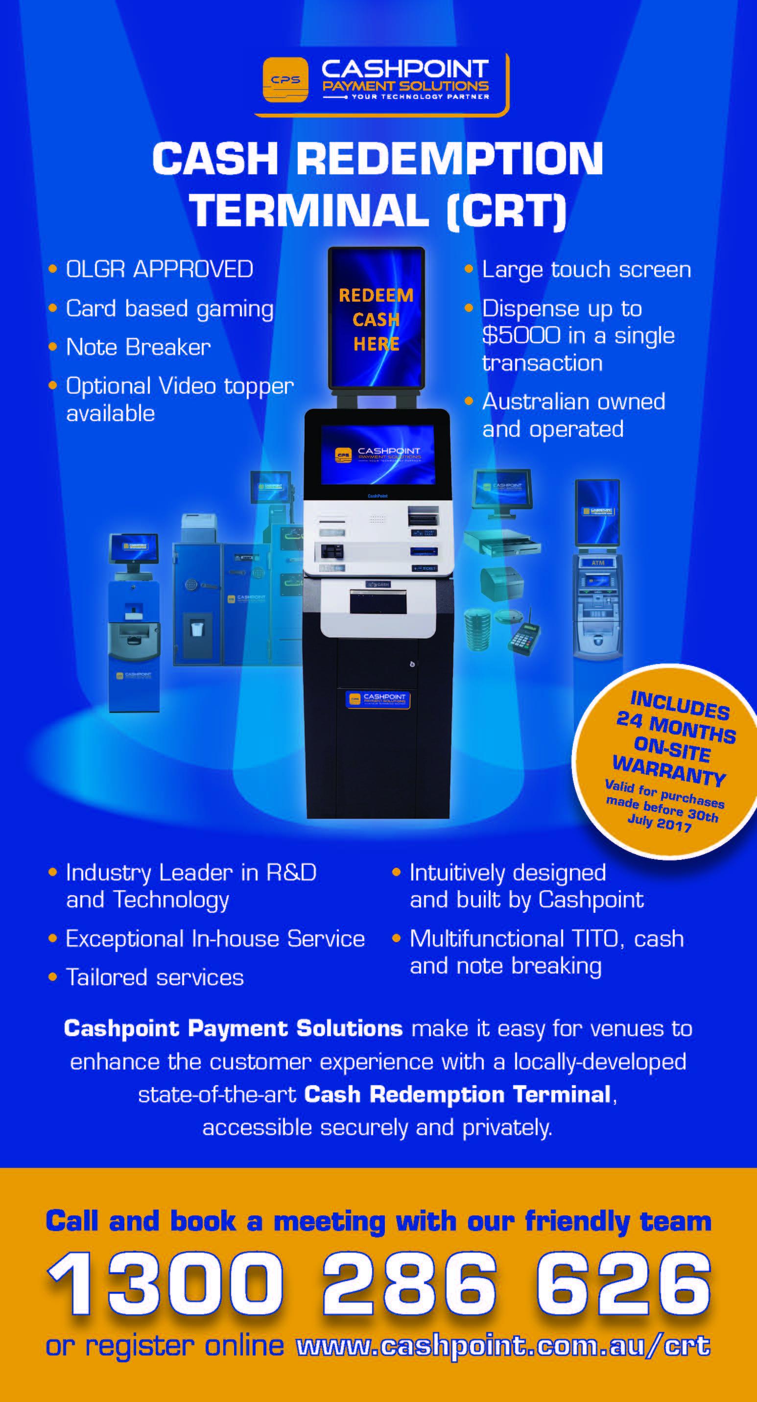 Cash Redemption terminal (CRT)